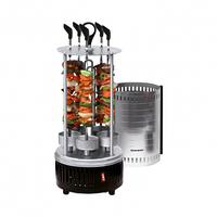 Гриль-шашличниця електричний вертикальний 6 шампурів Haeger HG-8612