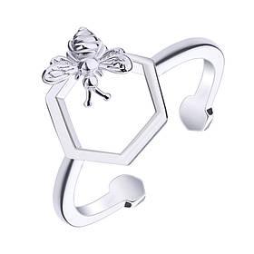 Серебряное кольцо Silvex 925 Пчела and Cота КК2/1039-15,5 КОД: КК2/1039-15,5