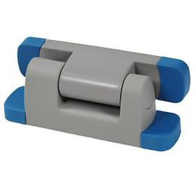 Петля для двери холодильной камеры Рефсистем Р-34-01 с микролифтом Серо-синяя  КОД: Р-34-01b