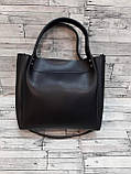 Женская Сумочка Зара Zara сумка из эко-кожи. Черная с красным, фото 2