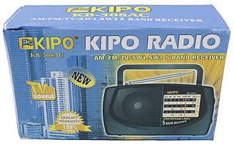 Радіоприймач кипо Kipo-KP 308AC, AM/FM/TV/SW1.5W2 перший сорт
