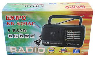 Радіоприймач кипо Kipo KB-409AC, AM/FM/TV/SW1.5W2 перший сорт