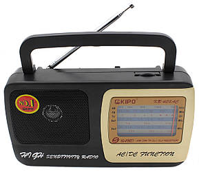 Радіоприймач кипо Kipo KB-408AC, AM/FM/TV/SW1.5W2 перший сорт