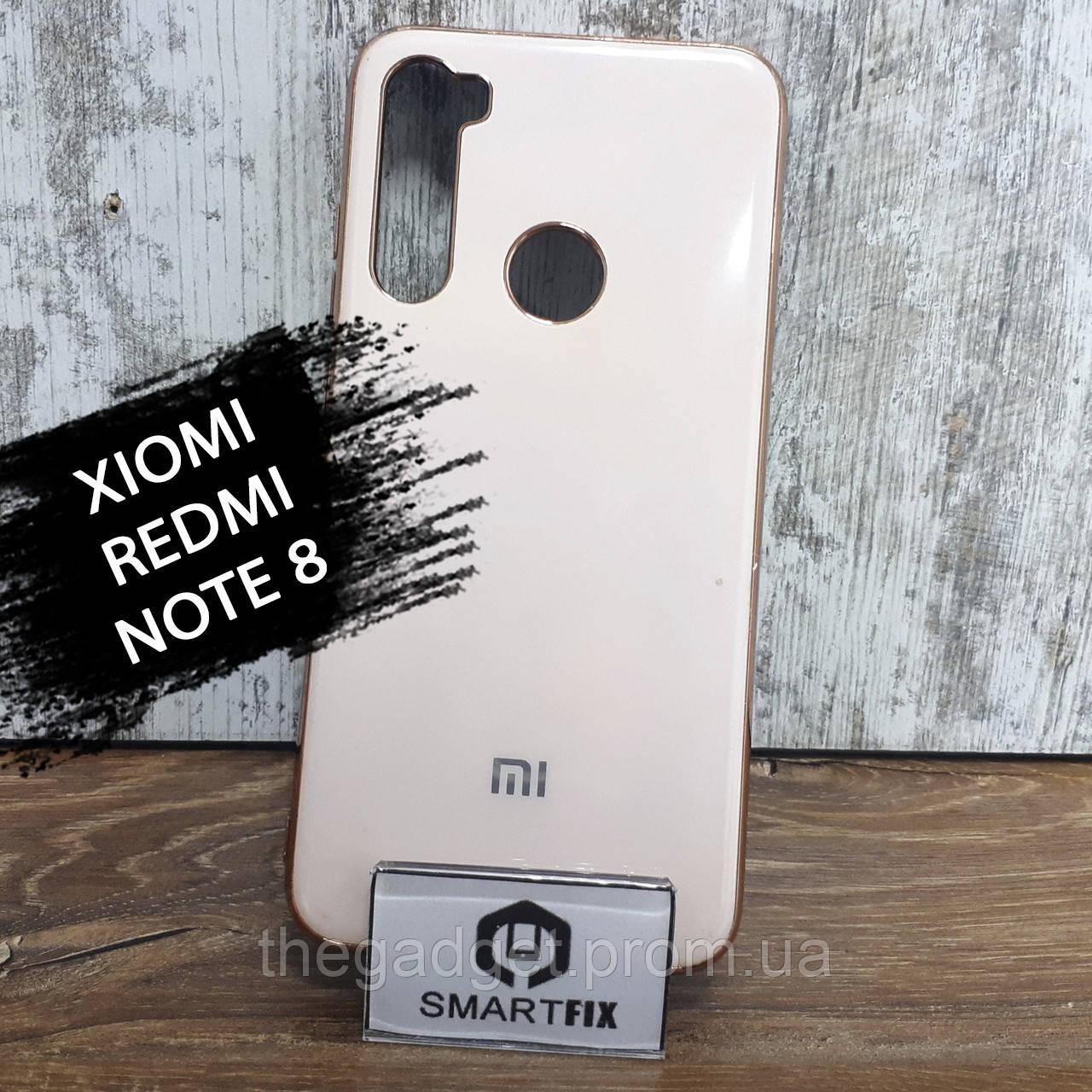 Силиконовый чехол для Xiaomi Redmi Note 8 Glossy Logo Розовый