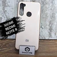 Силиконовый чехол для Xiaomi Redmi Note 8 Glossy Logo Розовый, фото 1
