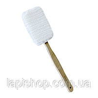 Мочалка банная с деревянной ручкой 4,5х38,5 см Bathlux, фото 2