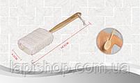 Мочалка банная с деревянной ручкой 4,5х38,5 см Bathlux, фото 3