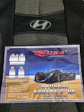Чохли на сидіння Хундай Соната 5 НФ, Авточохли для Hyundai NF Sonata V 2004-2010 повний комплект Nika, фото 2