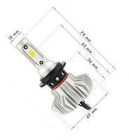 Светодиодные автомобильные лампы S9 H7, фото 2