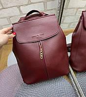 Рюкзак женский бордовый городской молодежный модный сумка-рюкзак кожзам, фото 1