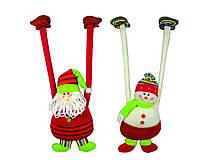 Подвеска Дед Мороз Снеговик 38см  в ящ микс