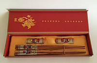 Палички для суші з підставками, в подарунковій коробці №7