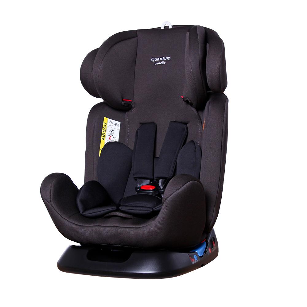 Детское автокресло черное с наклоном для сна CARRELLO Quantum CRL-11803/2 Space Black от рождения до 12 лет
