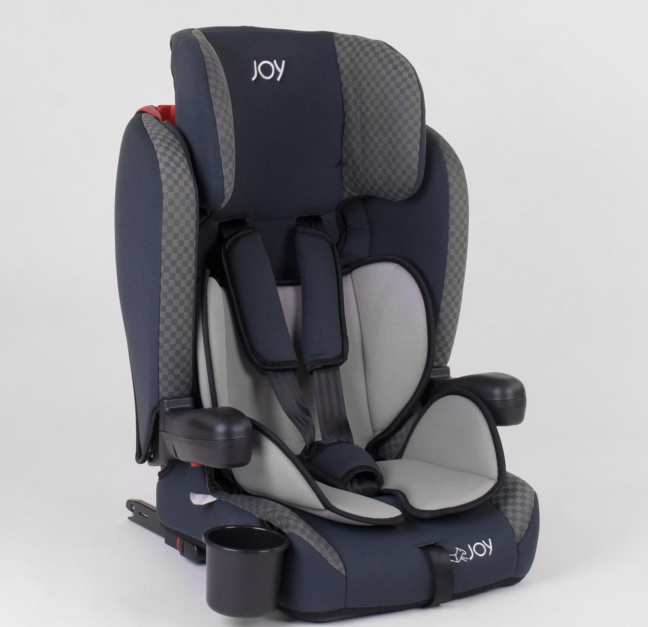 Детское универсальное автокресло JOY 24812 с системой ISOFIX, группа 1/2/3,(от 9-36 кг)
