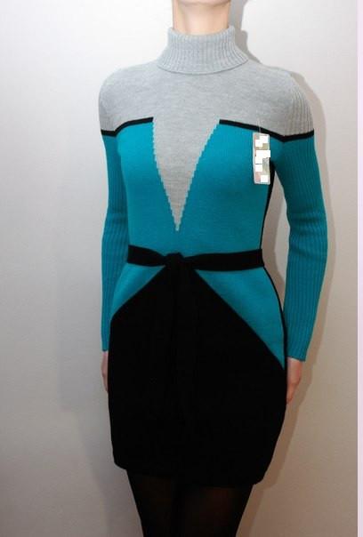 В'язана жіноча сукня - Корсет