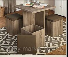 Стол кухонный с пуфиками  КС-1810