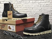 Зимние ботинки Red Wing USA Classic Moc 6-inch Boot 8424890 Black 8849 (нат. мех), фото 2