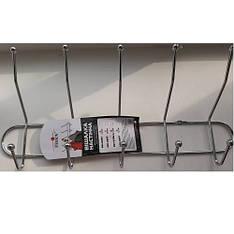 Вешалка настенная MH-0206-1, 43х20 см, 5 крючков