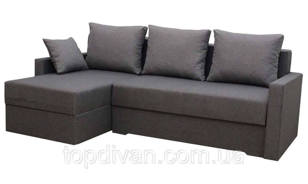 """Кутовий диван """"Мілос"""" кут взаємозамінний. Люкс 06. Габарити: 2,30 х 1,45 Спальне місце: 2,00 х 1,40"""