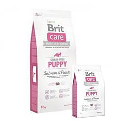 Корм Brit Care GF Puppy Salmon & Potato Брит Кеа для цуценят всіх порід з лососем і картоплею 12 кг+3кг
