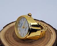 Часы-кольцо на палец кварцевые (цвет: золото)
