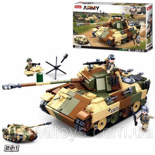 Конструктор SLUBAN M38-B0859 Танк, фигурки, 725 деталей 2 в 1