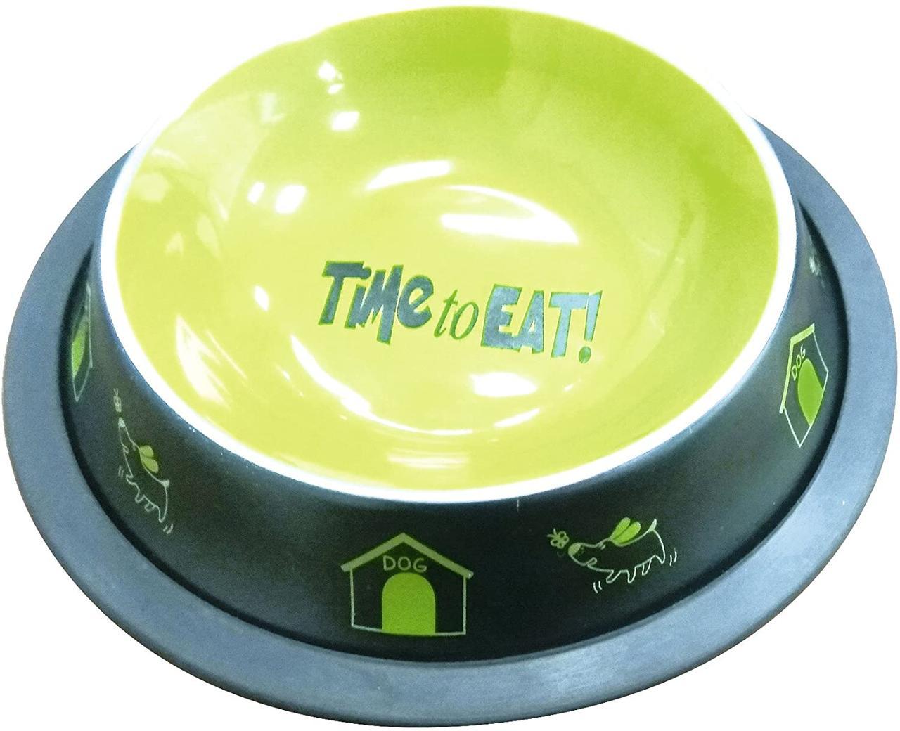 Миска для животных металлическая 0,7 л Croci Fancy 16,5 см зеленая