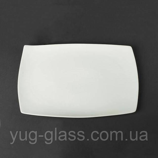 Блюдо белое прямоугольное 35 см