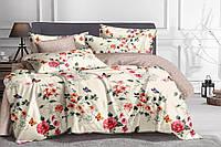 Полуторный комплект постельного белья 150*220 сатин_хлопок 100% (15491), фото 1