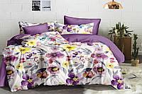Полуторный комплект постельного белья 150*220 сатин_хлопок 100% (15492), фото 1
