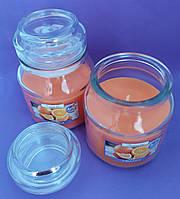 Свеча ароматизированная в сосуде AURA Bispol с запахом апельсина 30 часов