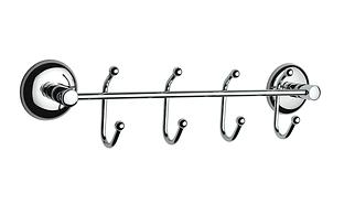 Держатель полотенец  4 крючка металл, Турция К351