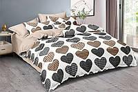 Полуторный комплект постельного белья 150*220 сатин_хлопок 100% (15496), фото 1