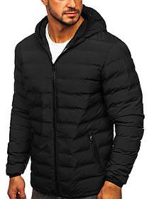 Мужская спортивная демисезонная куртка с капюшоном