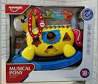 Музыкальная лошадка пони-сортер Huanger, HE 8024/АЕ