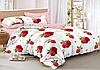 Полуторный комплект постельного белья 150*220 сатин_хлопок 100% (15602)