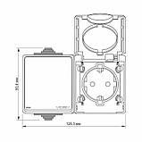 Блок розетка та вимикач зовнішній монтаж із вологозахистом ІР65 Binera Videx, фото 5
