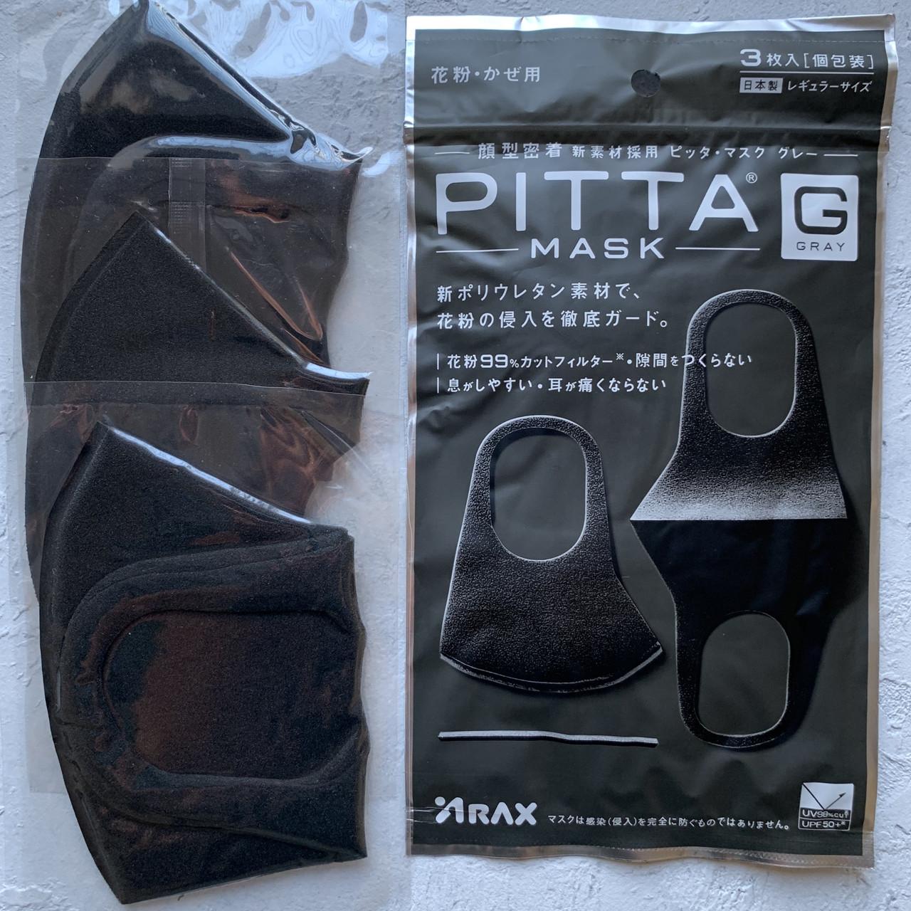 Многоразовая угольная маска. Маска-питта Pitta Mask Оригинал. Япония