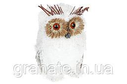 Декоративная фигура Белая Сова, 21см, 4шт