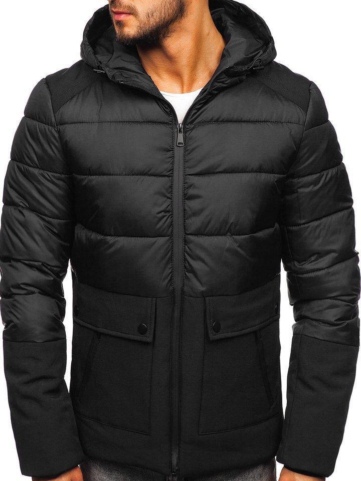 Стеганая зимняя мужская  куртка Черный, M-3XL