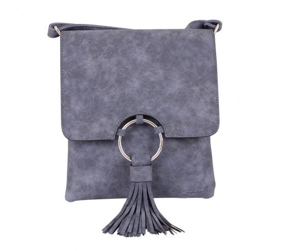 Сумка-планшет женская de esse синяя