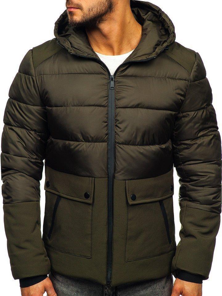 Стеганая зимняя мужская  куртка  Хаки, M-3XL
