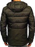 Стеганая зимняя мужская  куртка  Хаки, M-3XL, фото 2