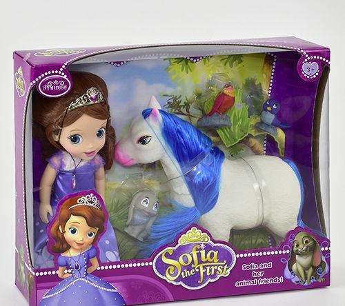 Кукла Принцесса с лошадкой ZT 8820 с питомцами