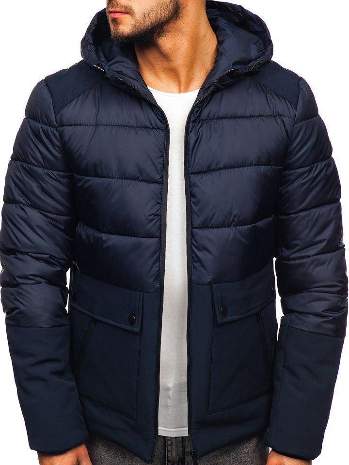 Чоловіча зимова куртка з капюшоном