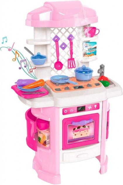 Игровой набор ТехноК 6696 Кухня со световыми и звуковыми эффектами Розовая
