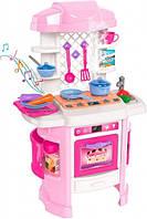 Игровой набор ТехноК 6696 Кухня со световыми и звуковыми эффектами Розовая, фото 1