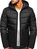Чоловіча зимова куртка з капюшоном, фото 2