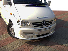 Накладка на бампер 4 фары Mercedes Sprinter 1995-2006 гг.