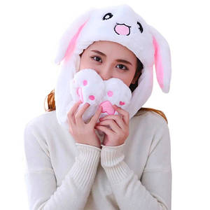 Смешные шапки с поднимающимися ушами (заяц, пикачу, стич, единорог) – оригинал